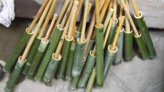 竹の水てっぽう作りを行いました(北名古屋市回想法センター)